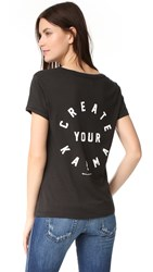 Spiritual Gangster Create Your Karma Scoop Tee Vintage Black