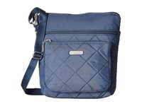 Baggallini Quilted Pocket Crossbody With Rfid Wristlet Slate Quilt Cross Body Handbags Blue