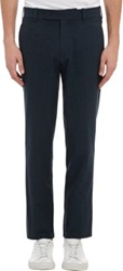 Brooklyn Tailors Flecked Trousers Blue
