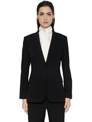 Max Mara Single Breasted Wool Crepe Jacket