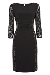 Roman Originals Jersey And Lace Contrast Dress Black