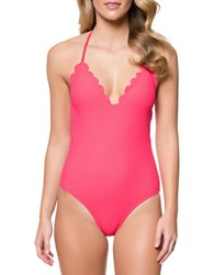 Jessica Simpson Under The Sea One Piece Halter Maillot Cherry