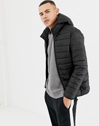 Only And Sons Hooded Quilted Jacket Black
