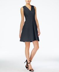Armani Exchange Fit And Flare Dress Blue