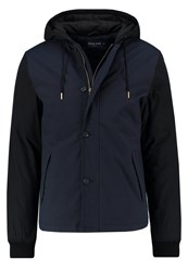 Pier One Light Jacket Blue Black Dark Blue