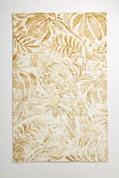 Anthropologie Tropical Treescape Rug Swatch Maize