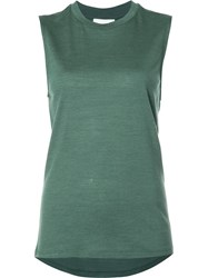 Just Female Loose Fit Tank Green