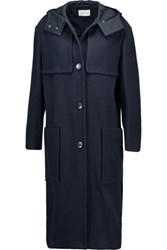 Etoile Isabel Marant Denny Wool Blend Hooded Coat Midnight Blue