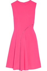 Mcq By Alexander Mcqueen Zip Embellished Broadcloth Mini Dress Bright Pink
