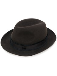 Maison Michel Fedora Hat Women Wool Felt M Brown