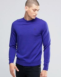 Fred Perry Jumper With Crew Neck In Regal Marl Regal Marl Blue