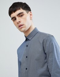 Lindbergh All Over Print Shirt In Navy Blue