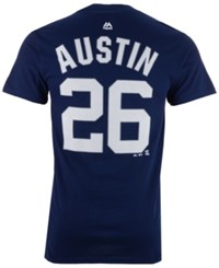 Majestic Men's Tyler Austin New York Yankees Official Player T Shirt Navy
