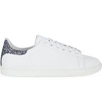 Maje Fanny Leather Trainers Blanc