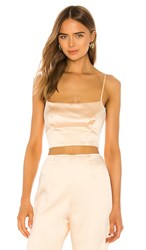 Lovers Friends Lennox Top In Cream. Champagne