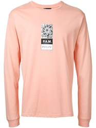Pam P.A.M. Printed T Shirt Pink Purple