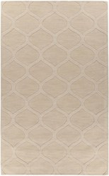 Chandra Mystica Rectangular Hand Tufted Contemporary Wool Area Rug Light Brown
