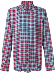 Ermanno Scervino Casual Checked Shirt Cotton Blue