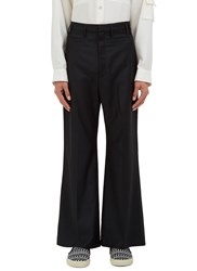 Wales Bonner Bodys Flared Tailored Pants Black