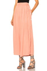 Mara Hoffman Button Side Pant In Neutrals Pink Neutrals Pink