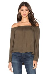 Bella Dahl Off The Shoulder Top Olive