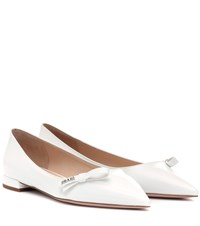 Prada Patent Leather Ballet Flats White