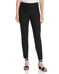 Magaschoni Faux Suede Paneled Skinny Pants Black