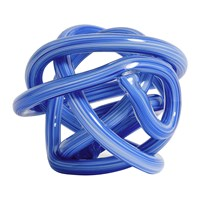 Hay Glass Knot Ornament Blue Medium