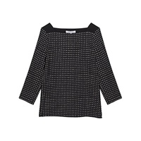Gerard Darel Belge Print Top Black