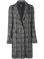 Lanvin Prince Of Wales Check Tweed Coat Black
