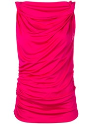 Pinko Draped Sleeveless Blouse Pink