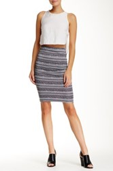 Necessary Objects Printed Pull On Pencil Skirt Multi