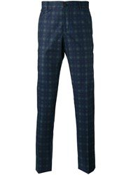 Etro Arabesque Print Trousers Blue