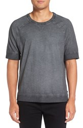 Michael Stars Men's Raglan Sleeve T Shirt Graphite