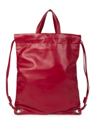Robert Clergerie Drawstring Backpack Red