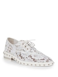 Givenchy Nika Studded Lace Derby Oxford Shoes White