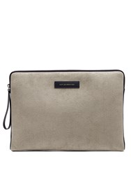 Want Les Essentiels Florio Suede Document Holder Grey Multi