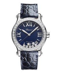 Chopard 30Mm Happy Sport Automatic Watch With Diamonds