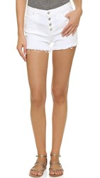 Blank Cutoff Shorts White Broney