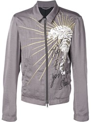 Haider Ackermann Embroidered Zip Jacket Grey