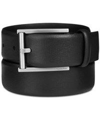 Calvin Klein Men's Leather Feather Edge Belt Black