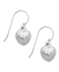 Giani Bernini Sterling Silver Earrings Puffed Heart Drop Earrings