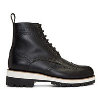 Dsquared2 Black Flat Lace Up Boots