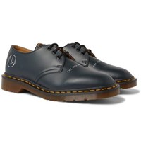 Undercover Dr. Martens 1461 Printed Leather Derby Shoes Navy
