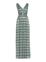 Biba Deep V Chevron Metallic Maxi Green