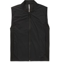 Arcteryx Veilance Arc'teryx Quoin Slim Fit Shell And Wool Blend Ponte Gilet Black