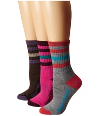 Smartwool Striped Hike Light Crew Medium Gray Women's Crew Cut Socks Shoes White
