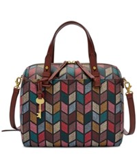 Fossil Rachel Small Satchel Fall Multi Gold