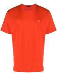 Acne Studios Nash Face T Shirt Red