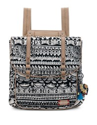 Sakroots Artist Circle Convertible Backpack Black White